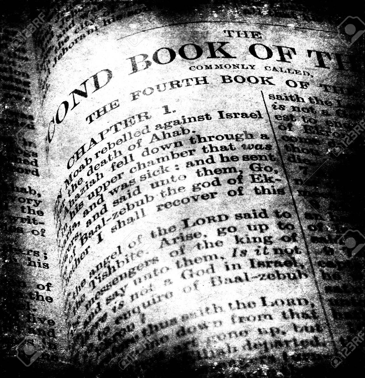 Close up of old Holy bible book - 6277652