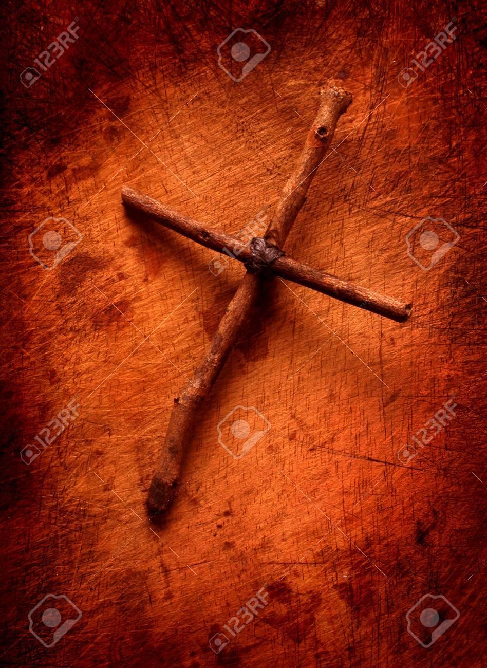 Close up of handmade paper Holy cross - 7041732