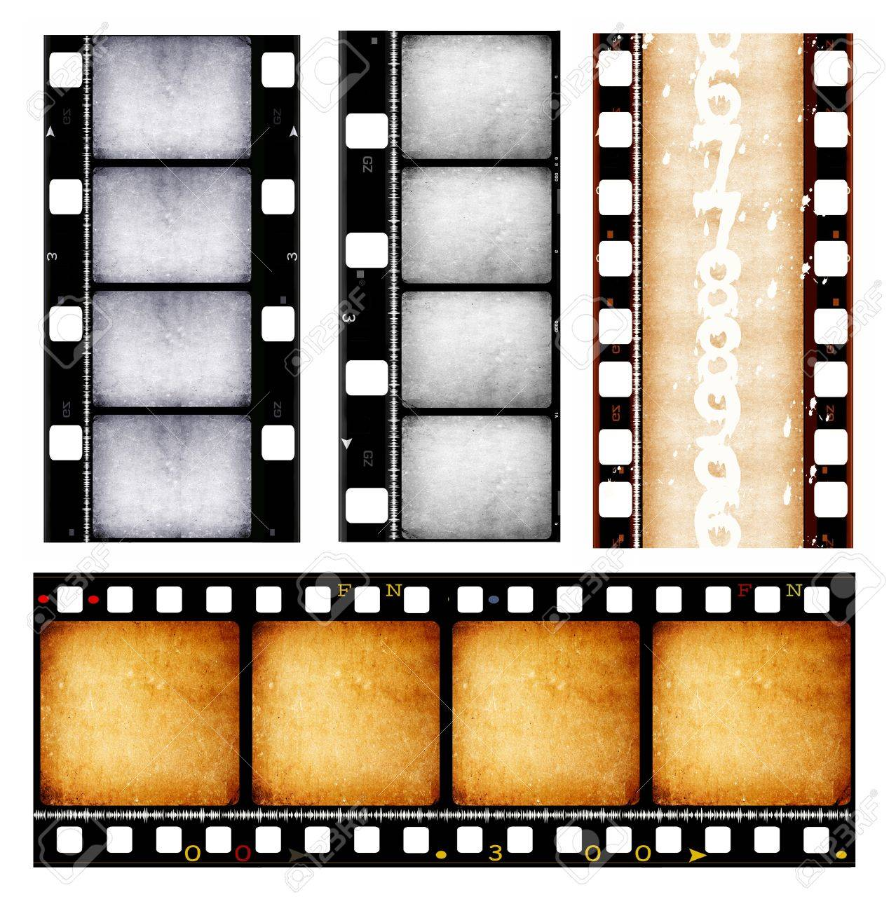 Close up of film strips - 7494942