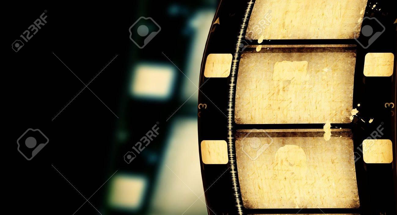 Close up of vintage movie film strips - 7546503
