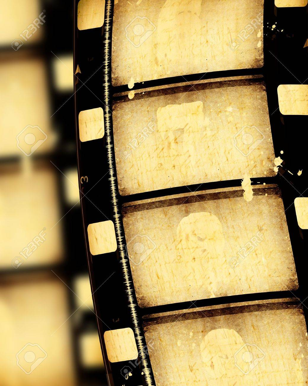 Close up of vintage movie film strips Stock Photo - 7546541