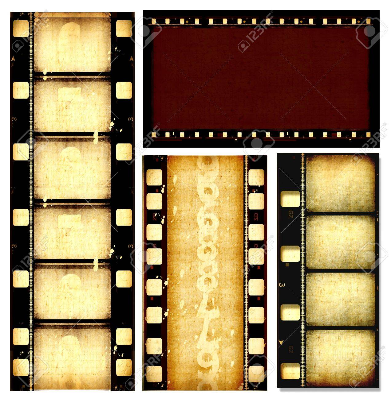 Close up of vintage movie film strips - 7584794