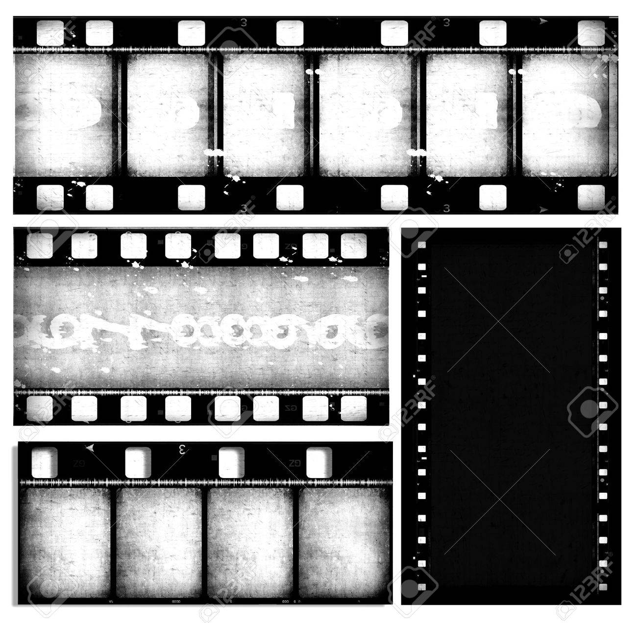 Close up of vintage movie film strips Stock Photo - 7546563