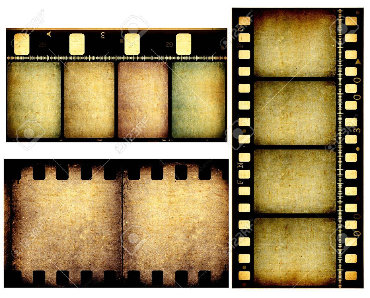 Close Up Of Vintage Movie Film Strips Stock Photo, Picture And ...