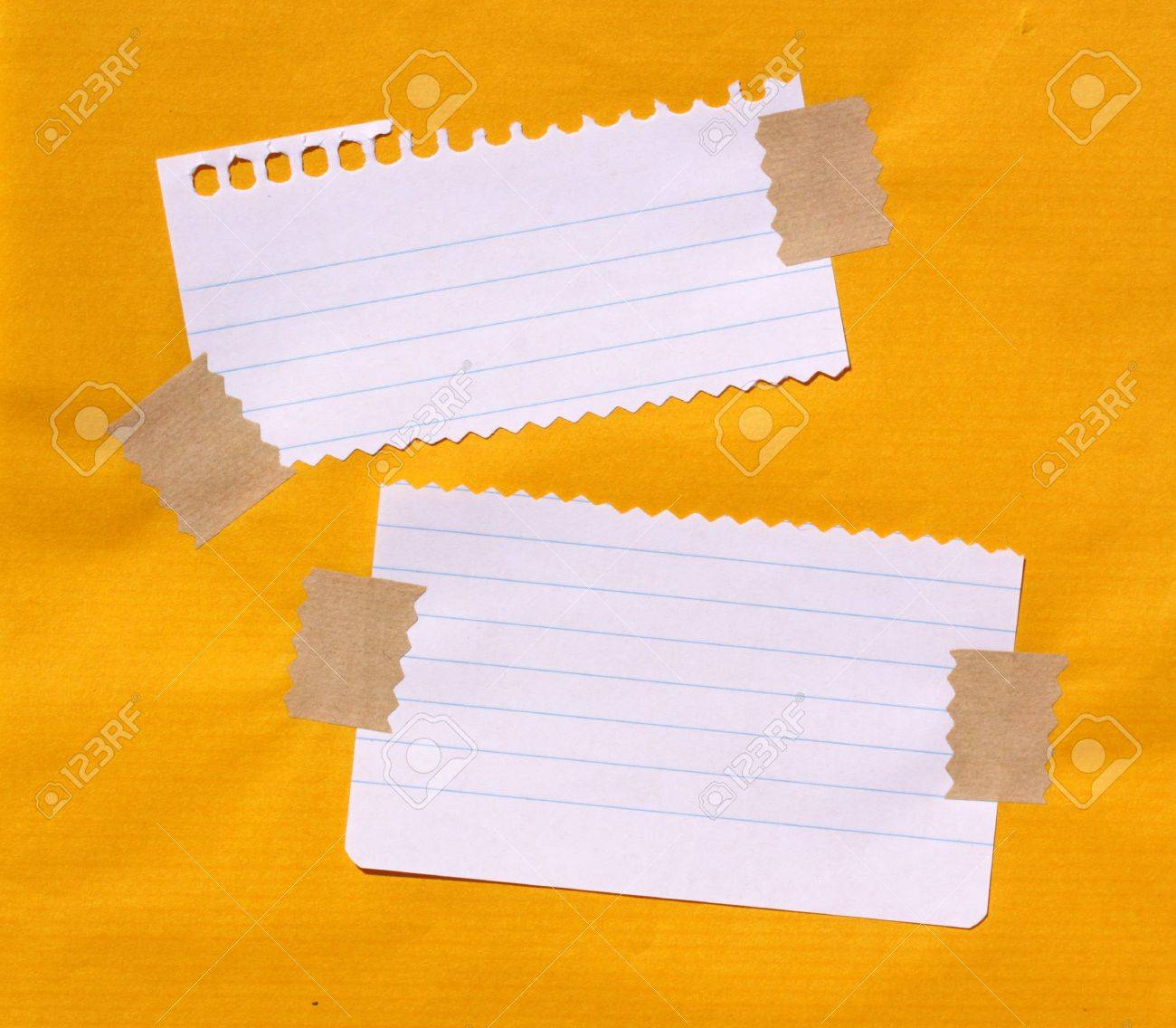 Close up of note paper for background - 7584789