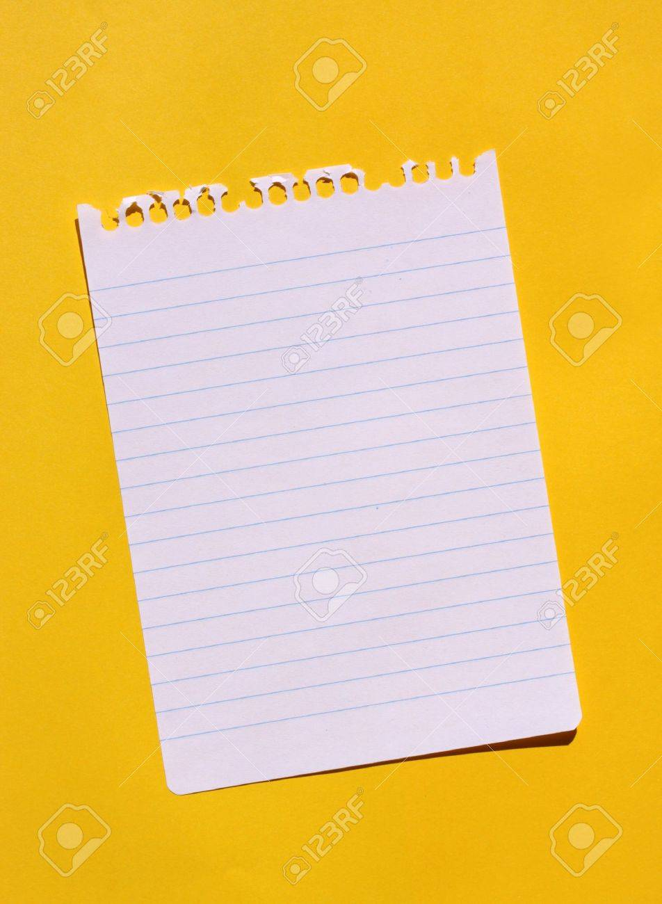 Close up of note paper for background - 7593833