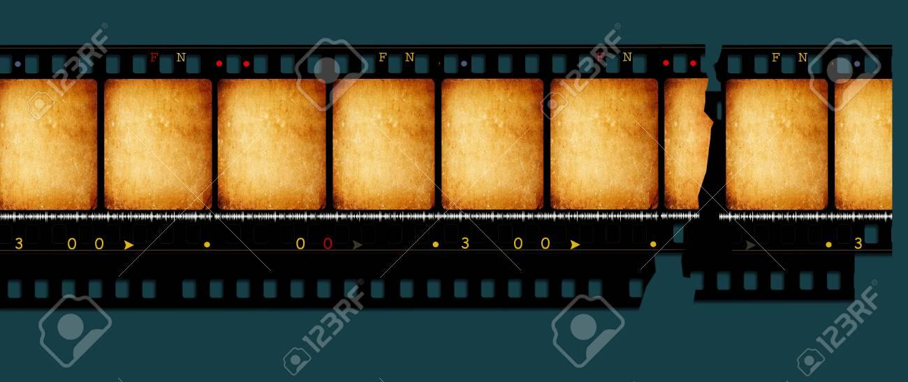 Close up of vintage movie film strip Stock Photo - 8178256