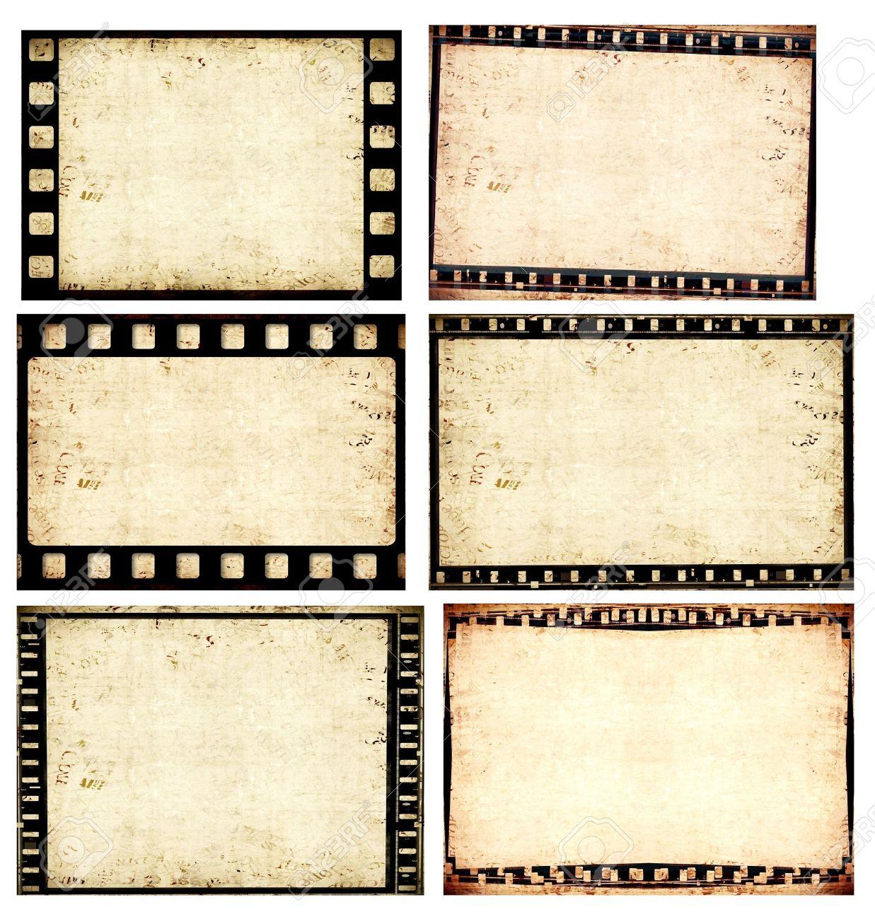Close up of vintage movie film strips - 8178226