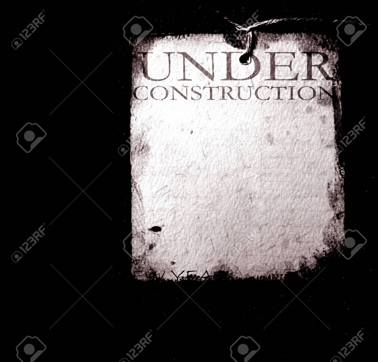 Under construction with  grunge  background Stock Photo - 8535661