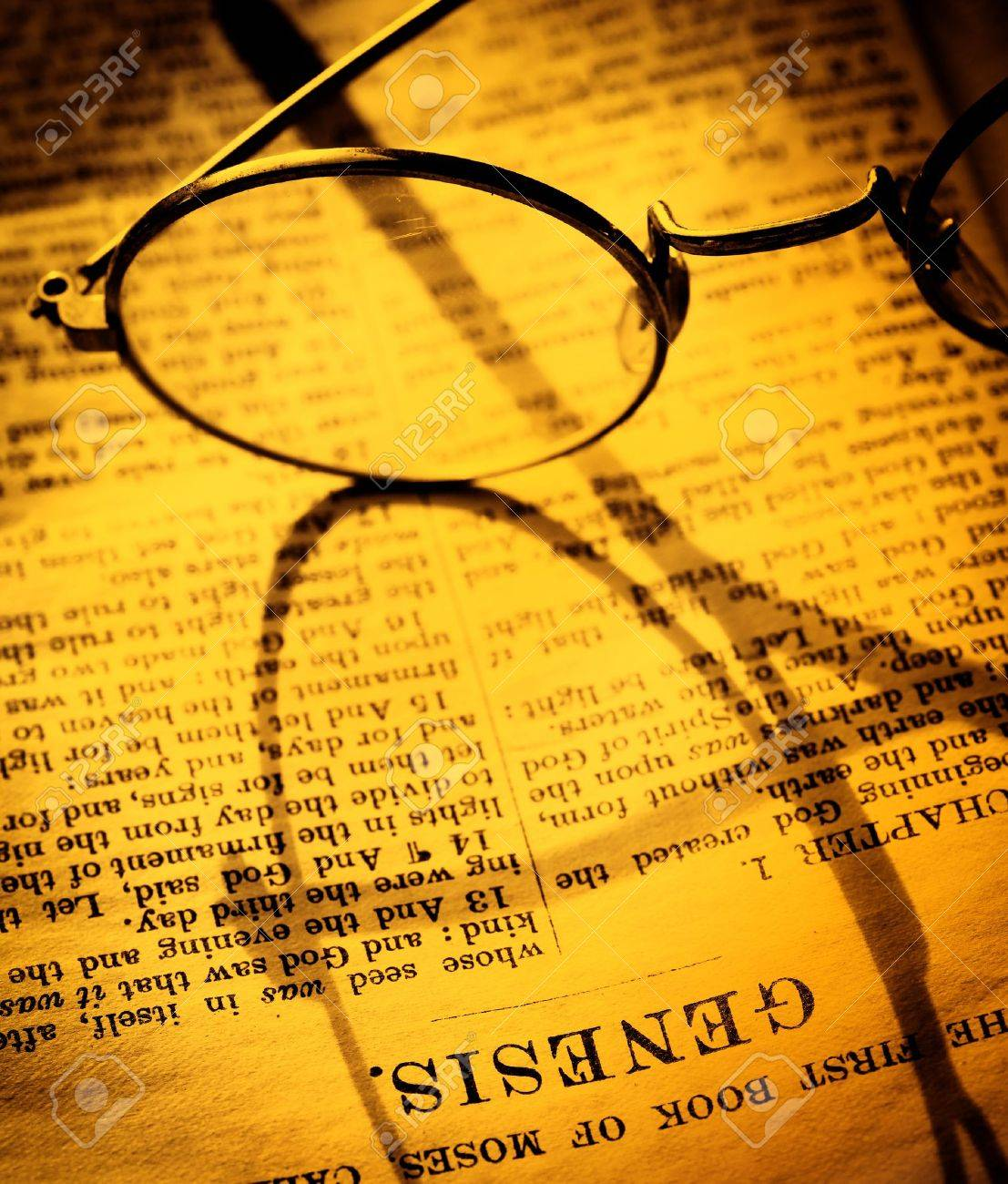 Close up of old Holy bible book - 10538217