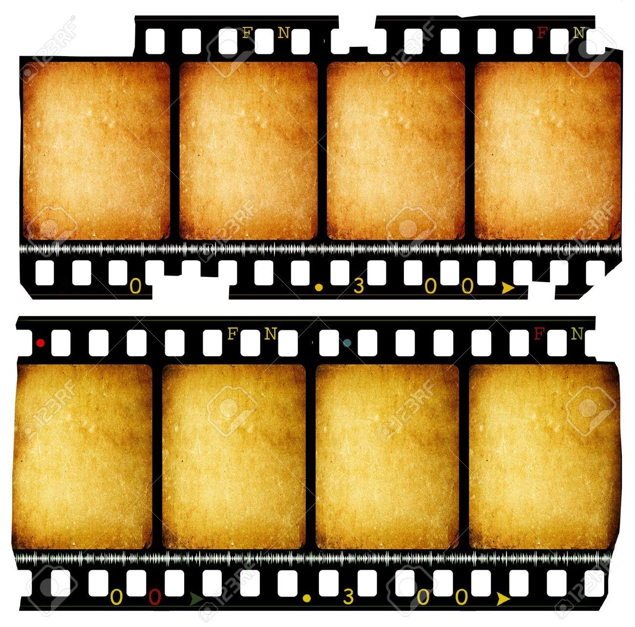 Close up of vintage movie film strips - 10658415