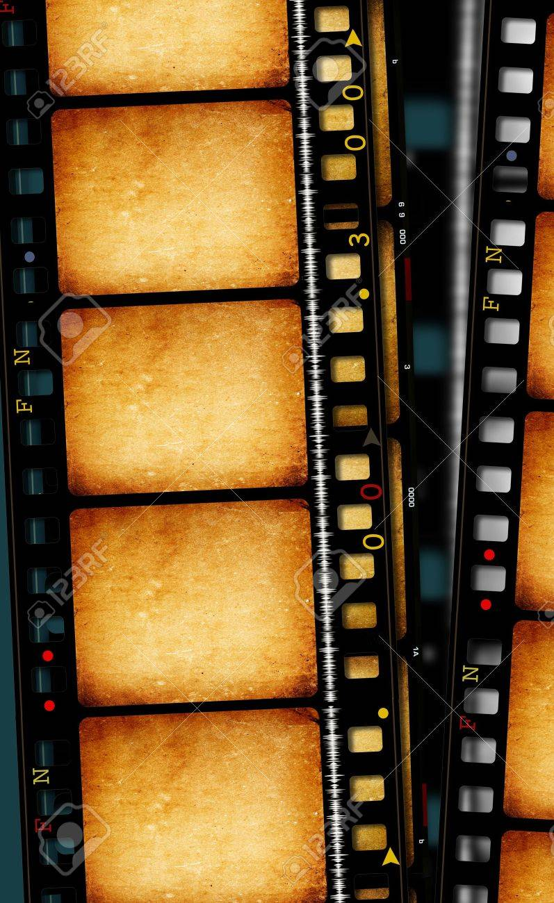 Close up of vintage movie film strips - 10658414