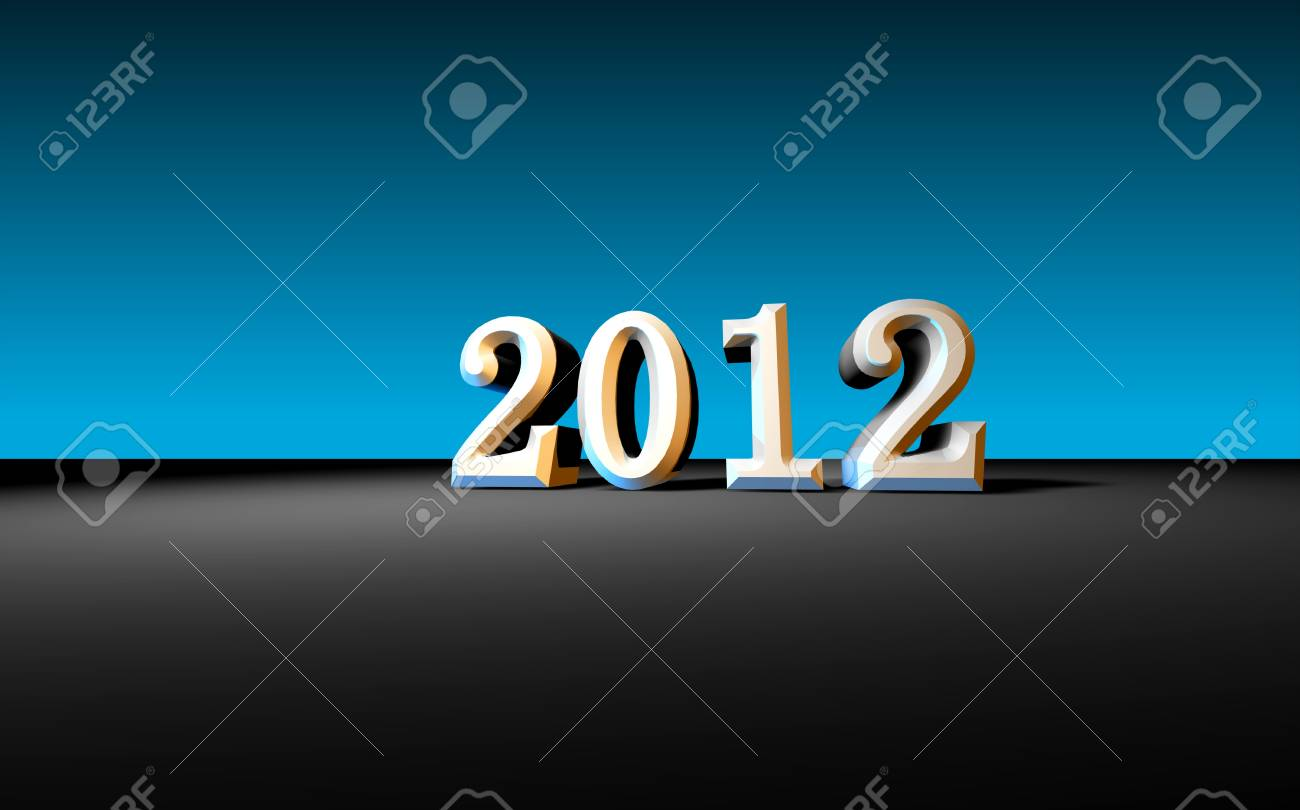 2012 Happy New Year ,3D art Stock Photo - 11576081