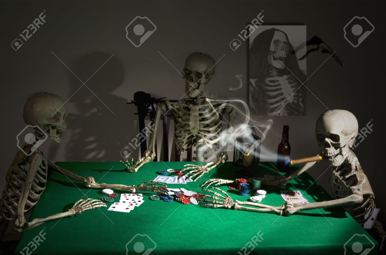 Midnight Poker Game Stock Photo - 10652040