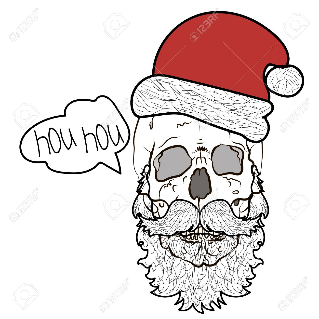 graphic relating to Santa Claus Printable Pictures named Santa Claus skeleton. Awesome fresh yr print for t-blouse or poster..