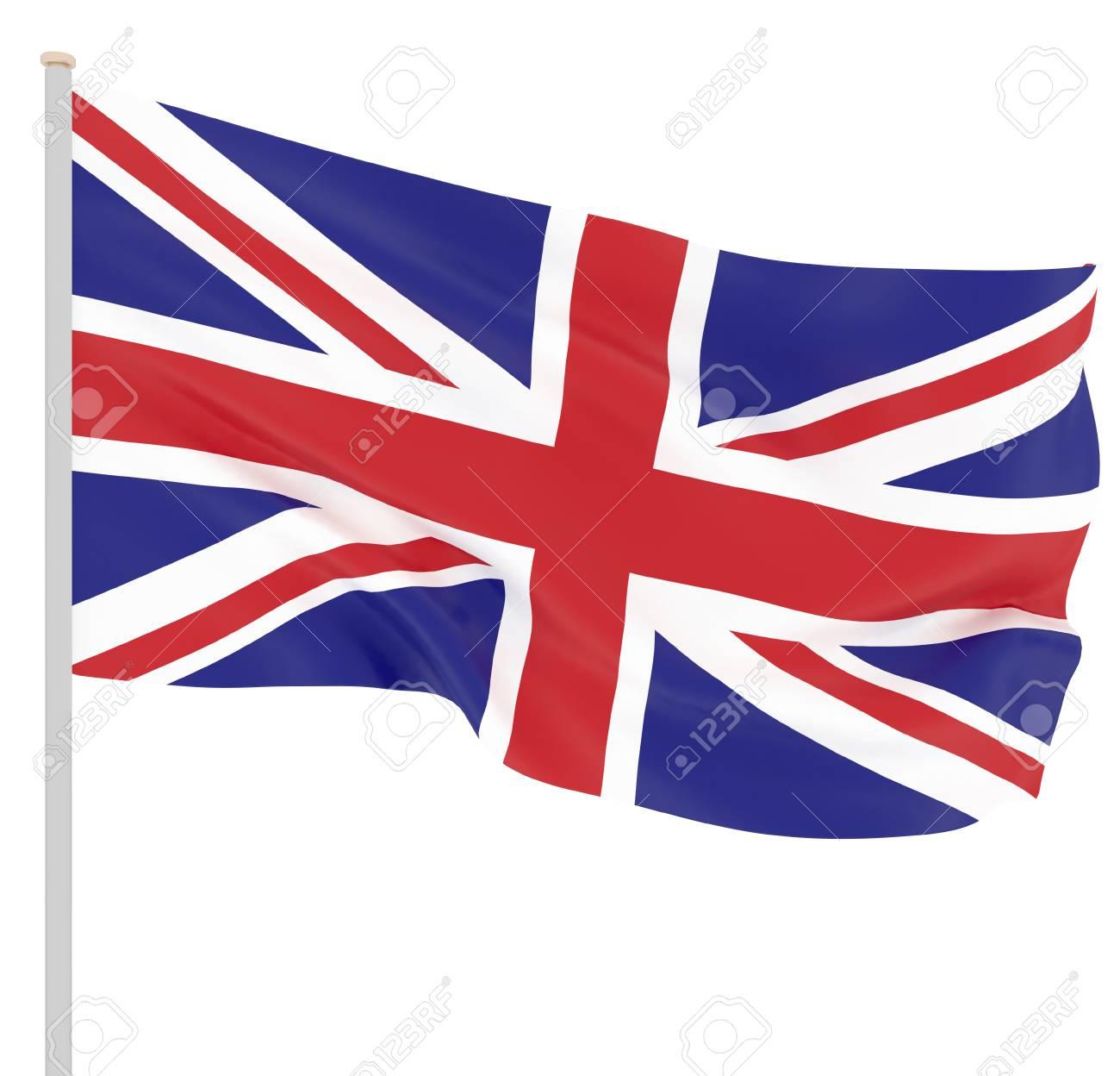 Waving Flag Of United Kingdom State Illustration Of European