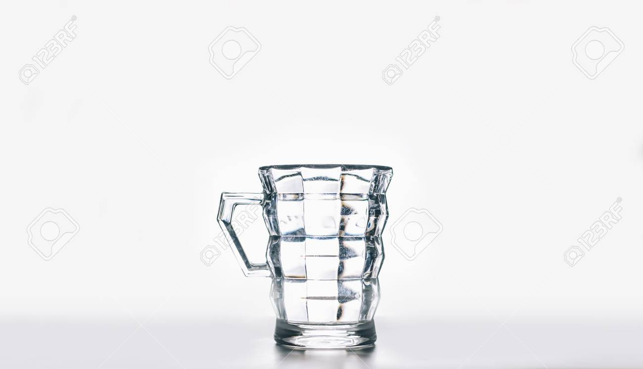 9b5c1fa32c8 Empty glass isolated on a white background Stock Photo - 86794922