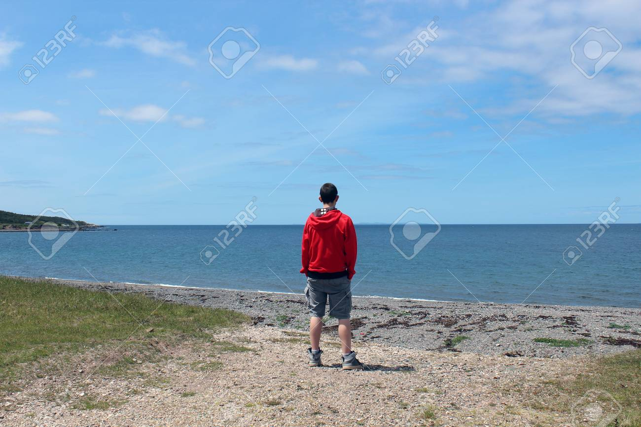 Young male and summer landscape Stock Photo - 14081333