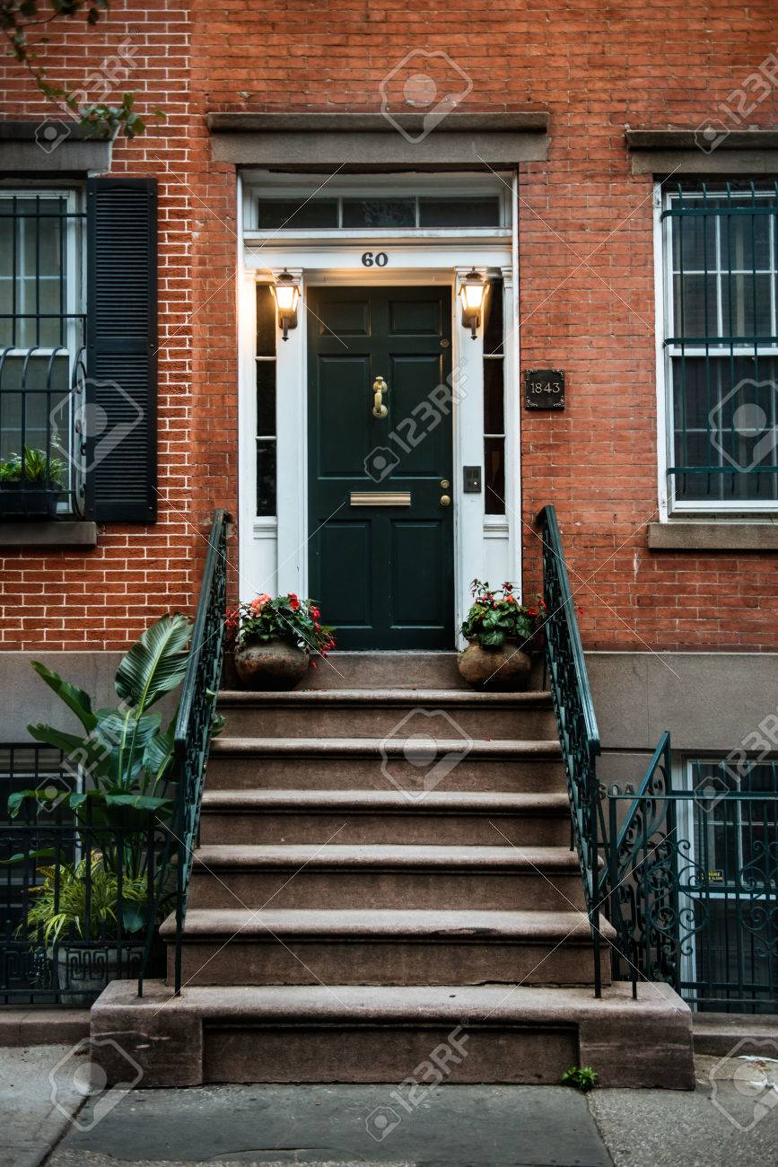 Front Door Of A Beautiful Georgian Era English Manhattan Town Stock Photo Picture And Royalty Free Image Image 64433758