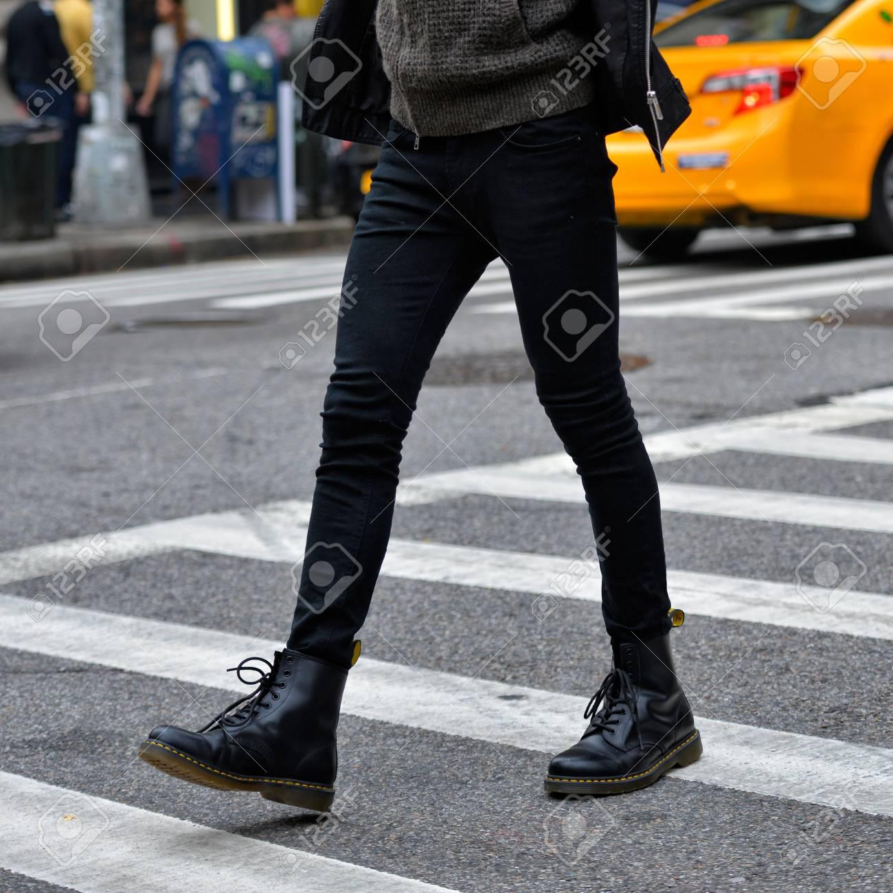 Men Fashion Concept. Man Wear Black