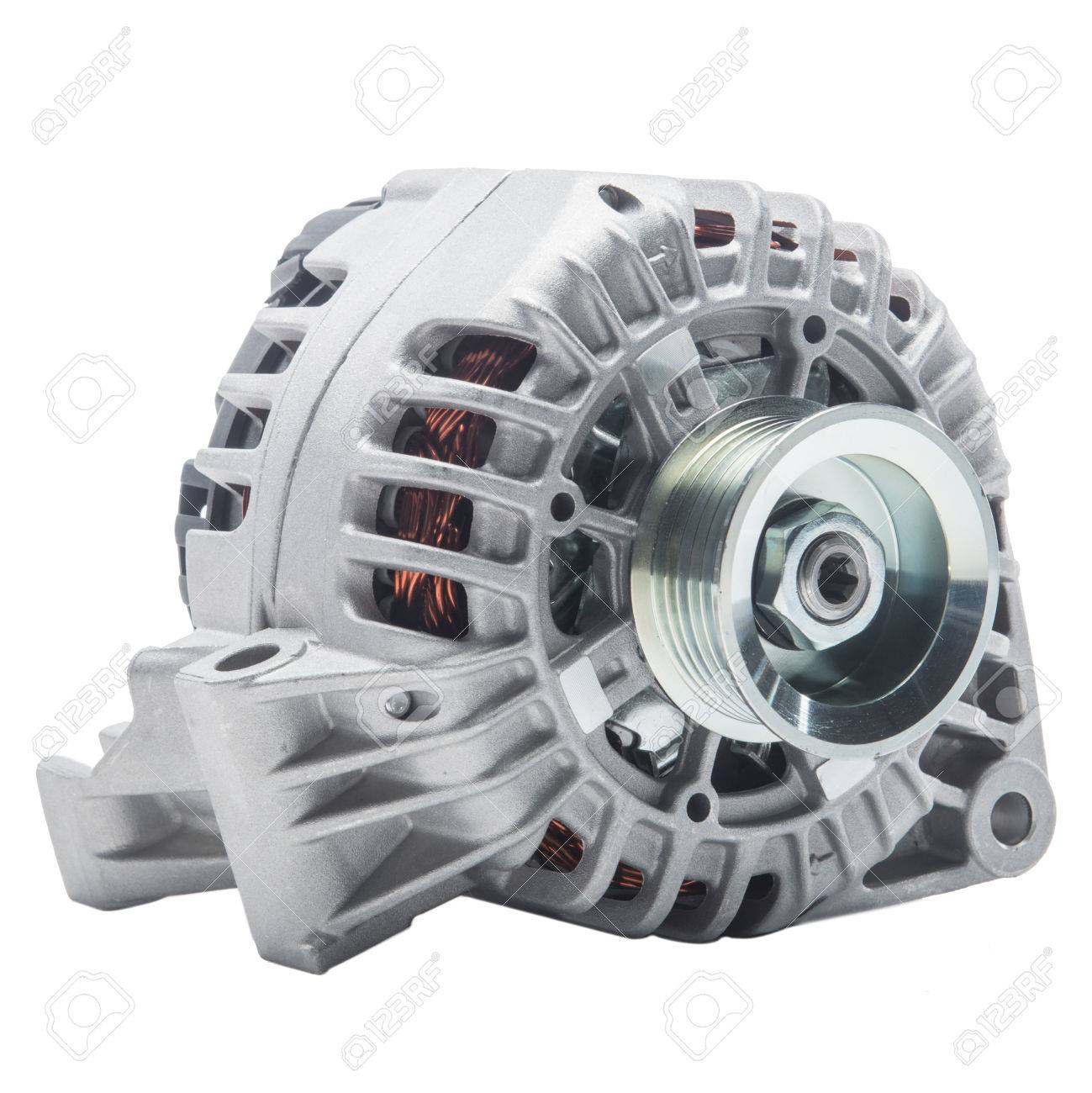 Power Generator Or Alternator Isolated On White Background. Car ...