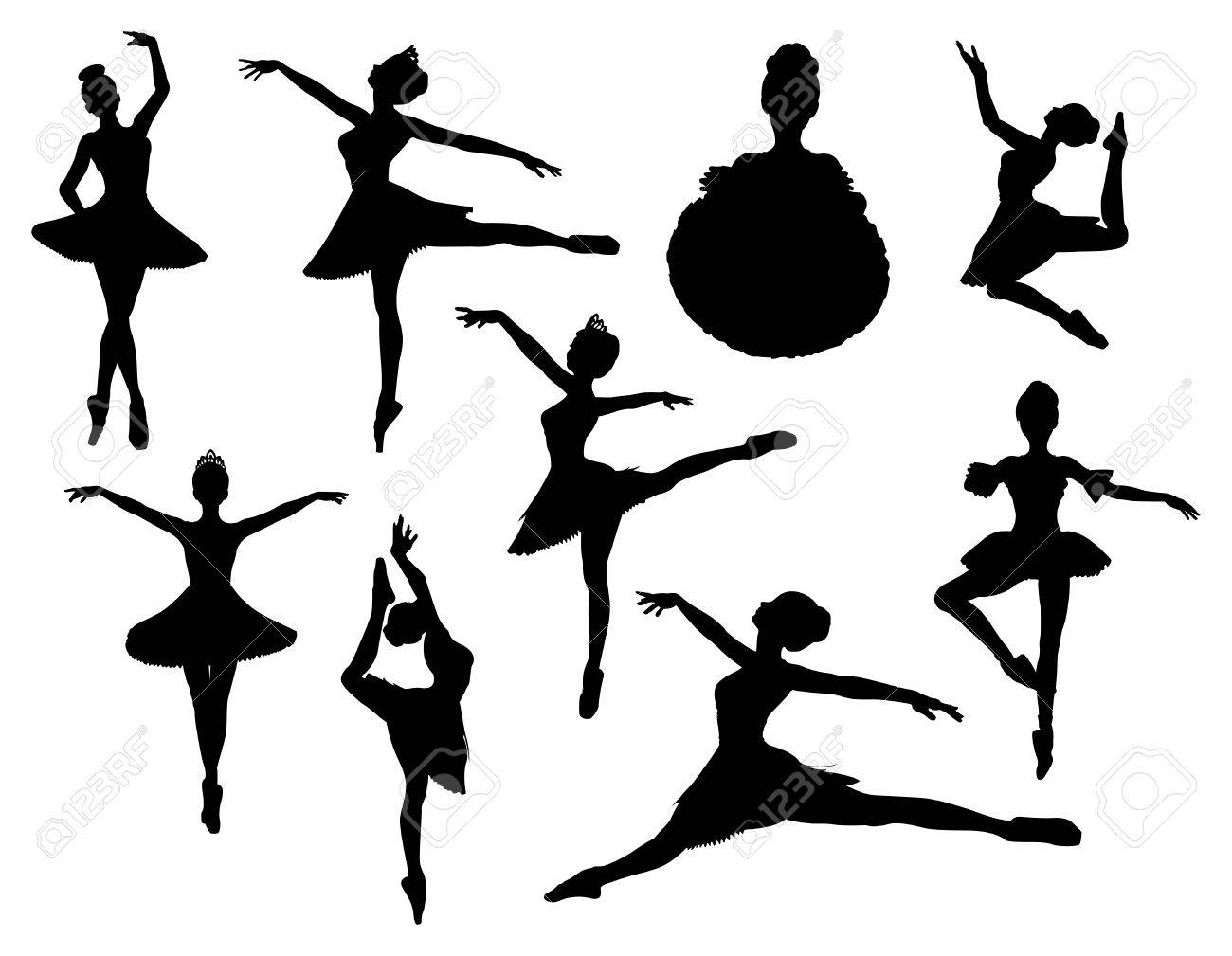 ballerina vector silhouette royalty free cliparts vectors and rh 123rf com ballerina vector image ballerina vector art
