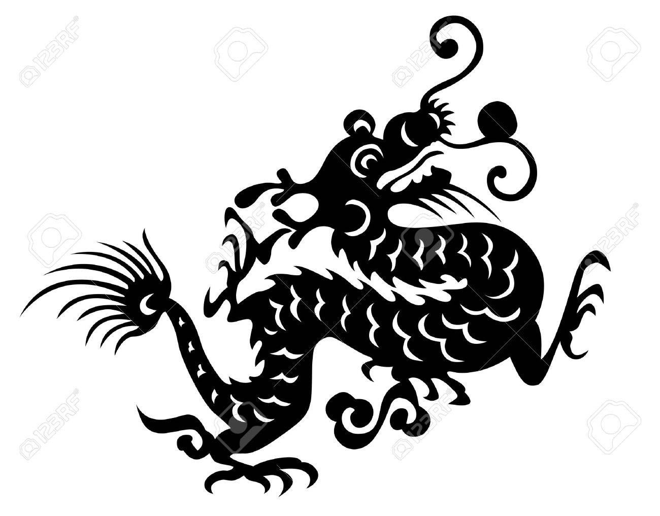 dragon vector chinese traditional design Stock Vector - 3086339