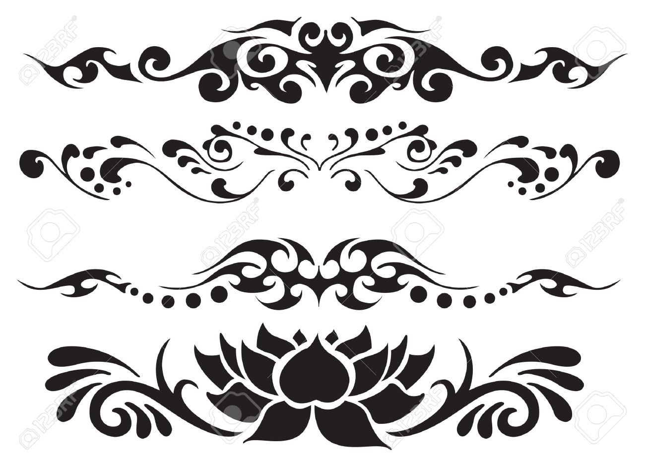 Floral Decoration vector decoration floral ornament royalty free cliparts, vectors