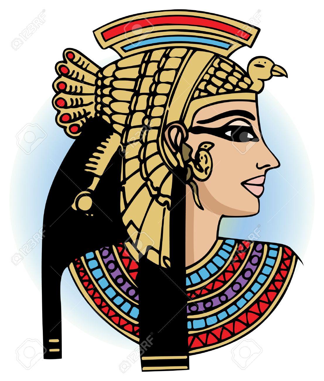vector head of egyptian queen cleopatra Stock Vector - 4053280