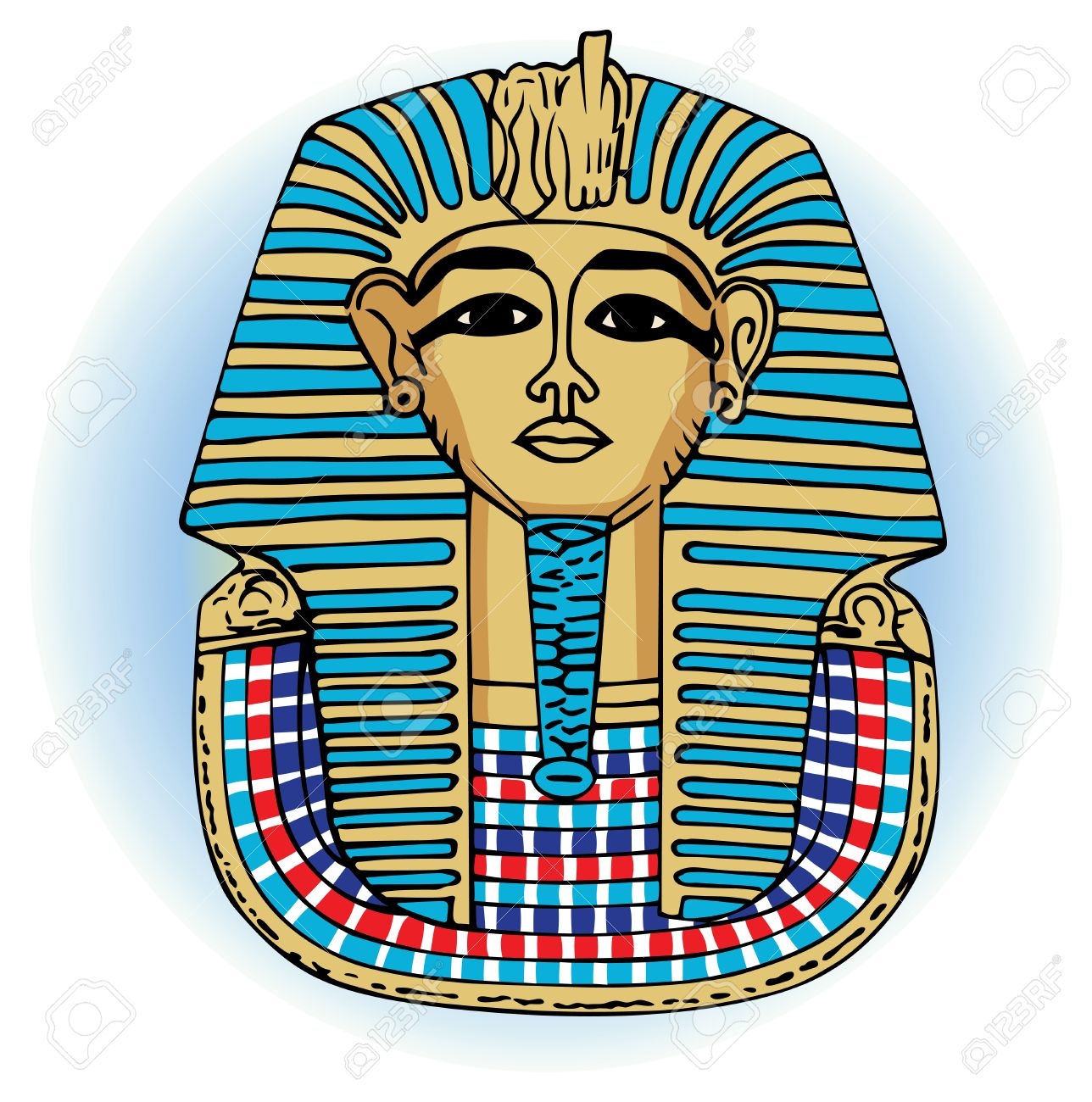 King Tutankhamen Vector Egyptian Death Mask Royalty Free Cliparts ...