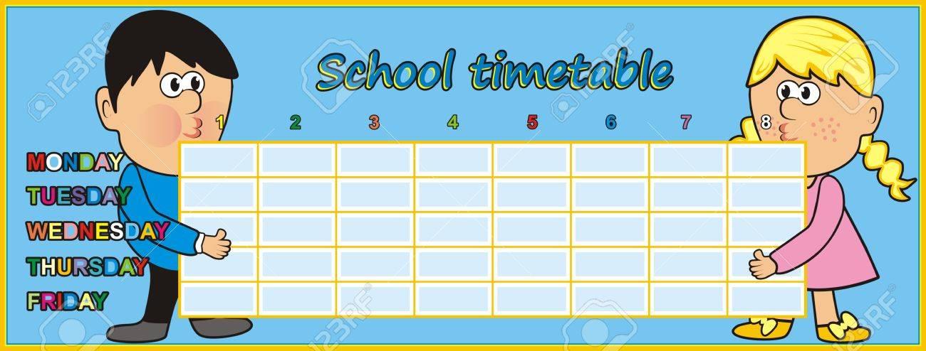 Timetable - kids Stock Vector - 21166834