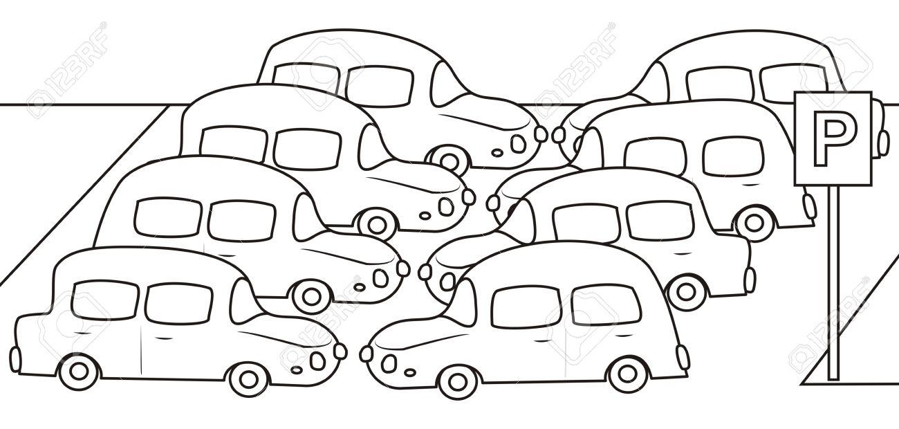 car coloring book stock vector 23248836 - Cars Coloring Book