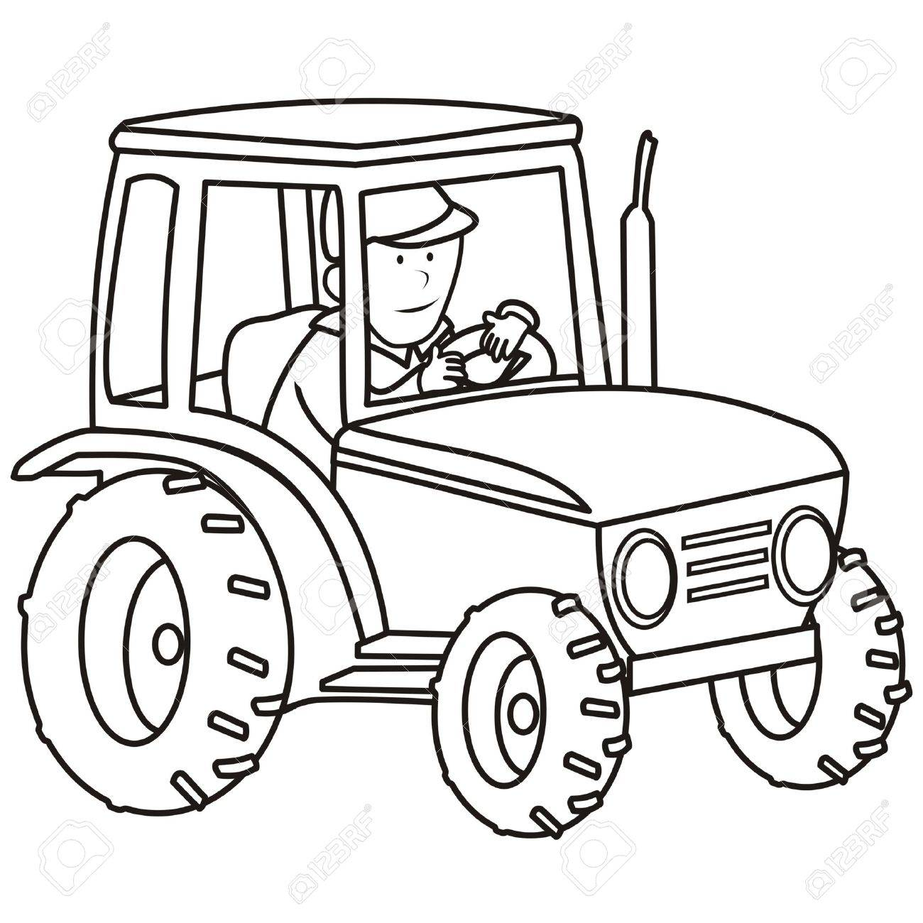 Tractor - Coloring Book Royalty Free Cliparts, Vectors, And Stock ...
