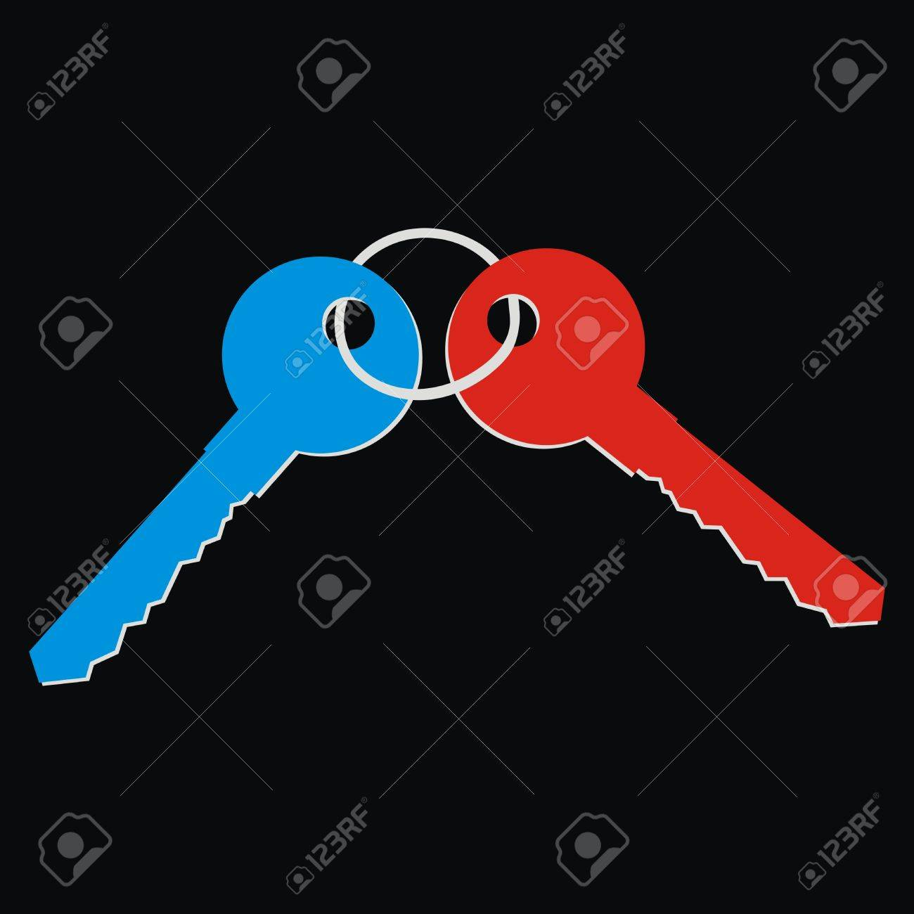 two keys illustration Stock Vector - 27311673