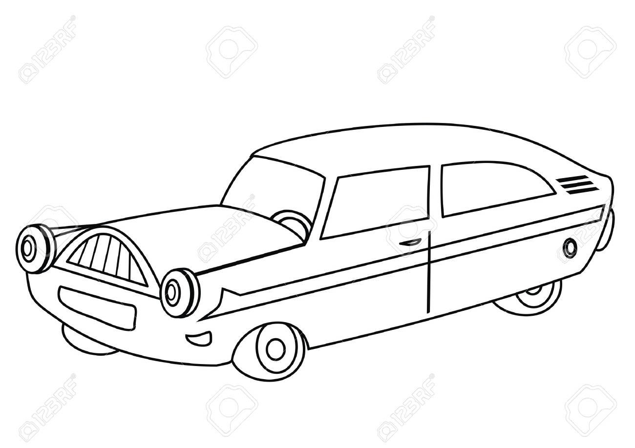 車 塗り絵のイラスト素材ベクタ Image 27946698