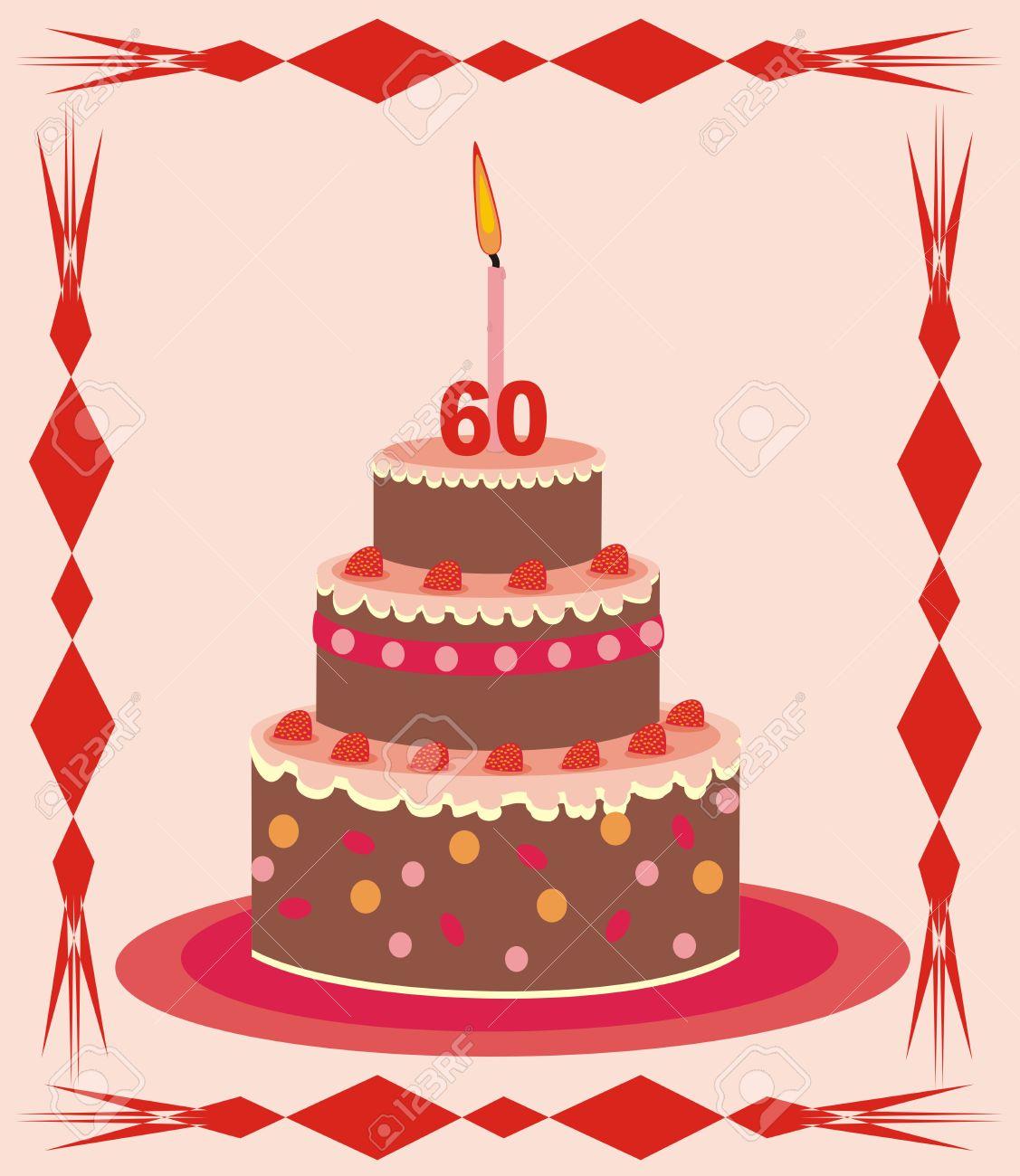 Image gateau d'anniversaire 60 ans