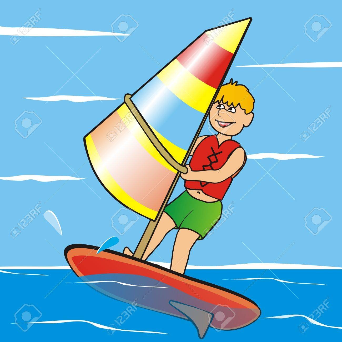 Windsurfing Royalty Free Cliparts Vectors And Stock Illustration