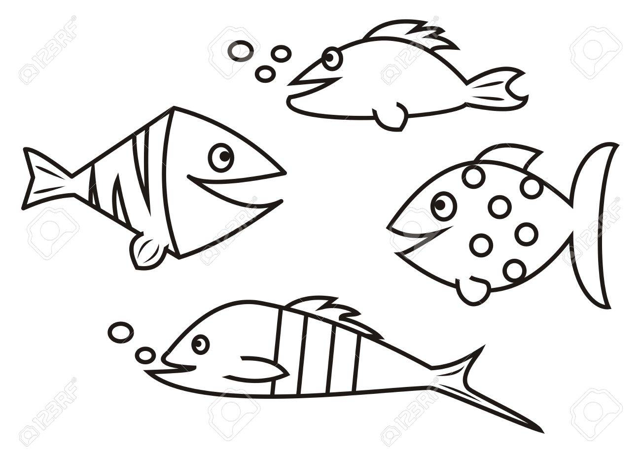 Fishes - Coloring Book Royalty Free Cliparts, Vectors, And Stock ...