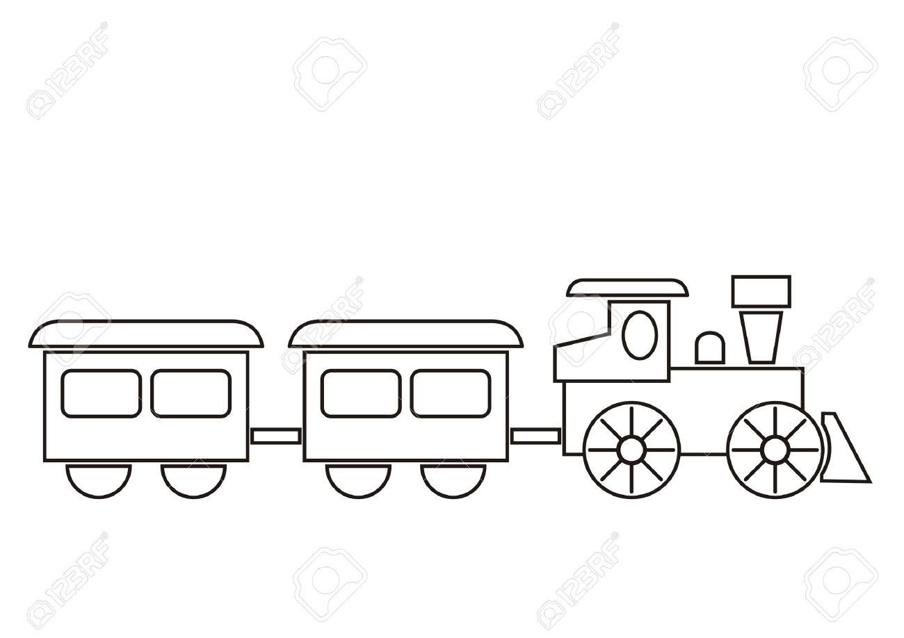 train coloring book stock vector 38653077 - Train Coloring Book