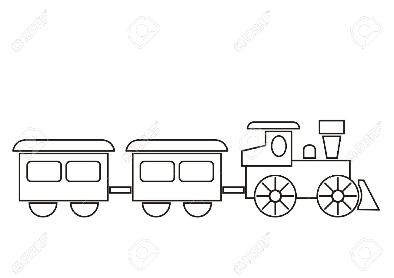 Train Coloring Book Royalty Free Cliparts Vectors And Stock