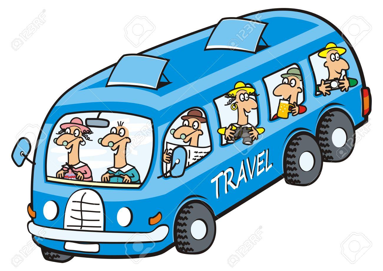 バス、高齢者のアイコンです。面白いイラストです。 ロイヤリティフリー