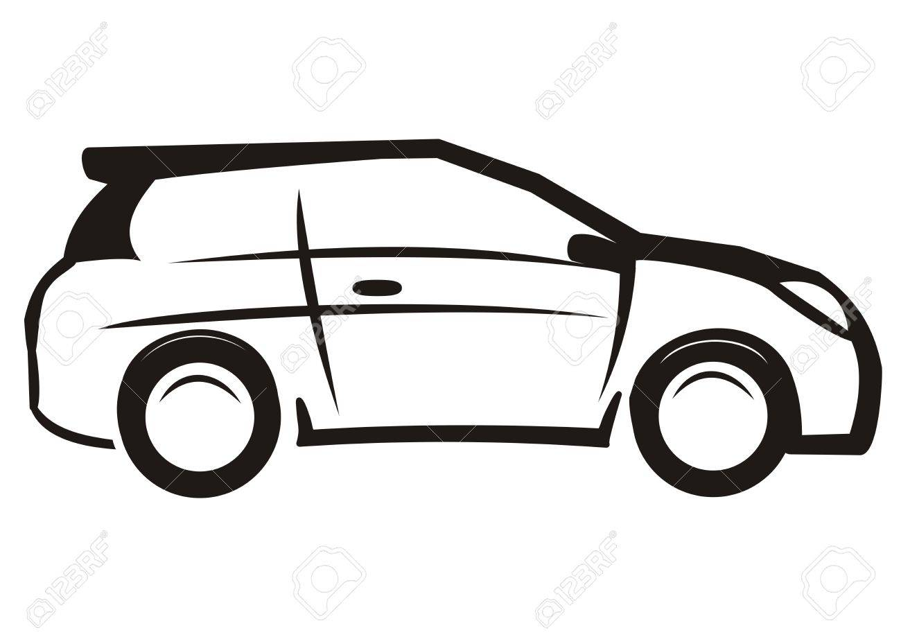 car black and white sketch vector icon royalty free cliparts rh 123rf com electric car icon vector free car light icon vector