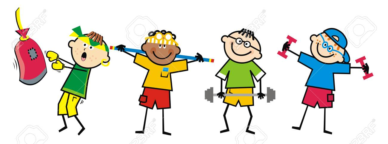 Image result for kids fitness clipart
