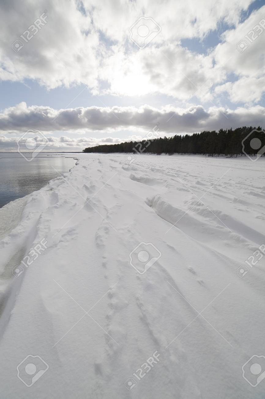 Baltic sea in winter, gulf of Riga , Latvia. Stock Photo - 12714920