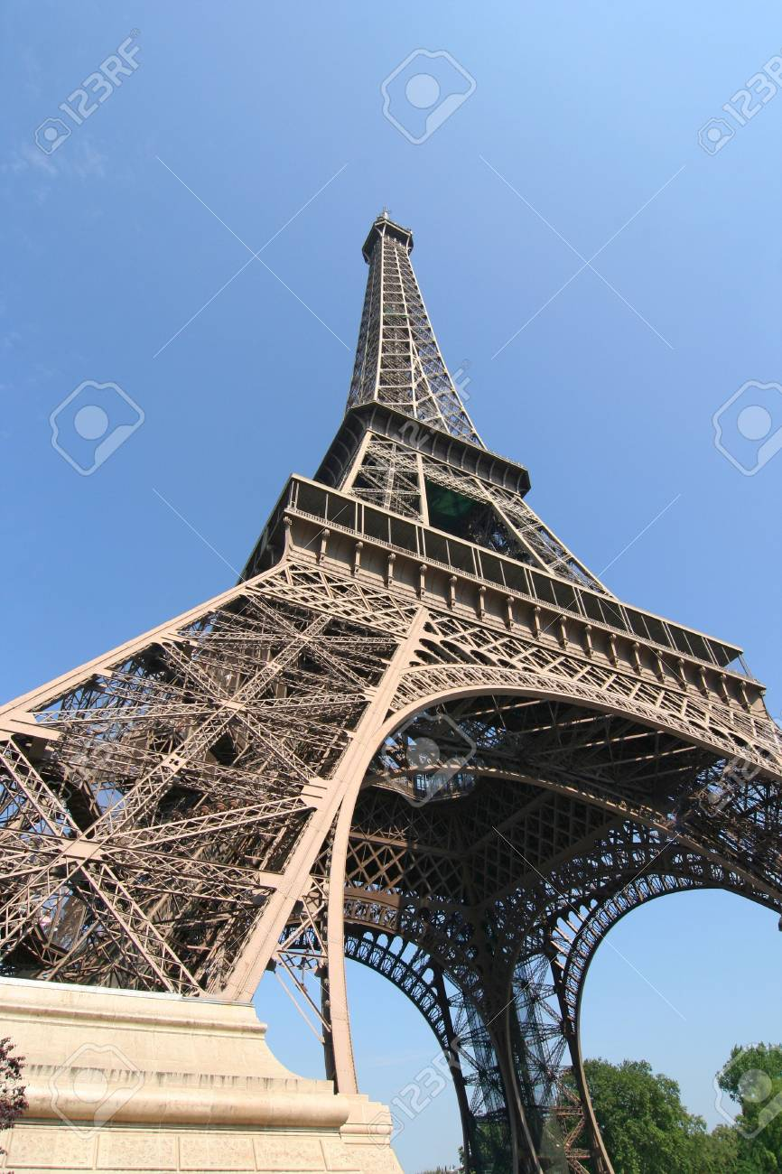 Eiffel Tower from right below Stock Photo - 5347597