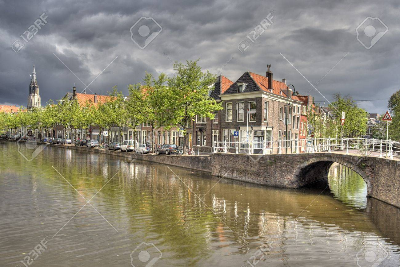 Canal in Delft, Holland Stock Photo - 7878386