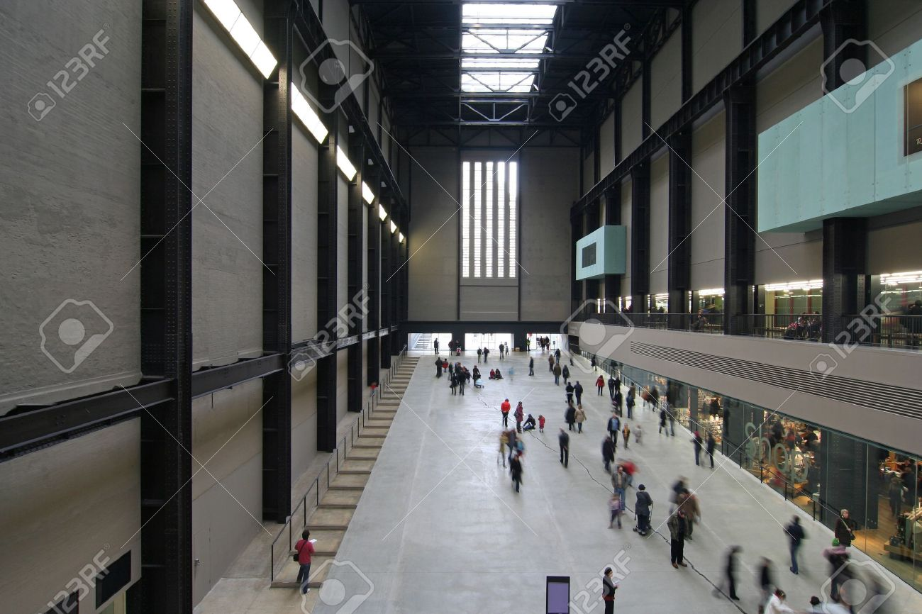 Interior Of The Tate Modern Art Gallery, Housed In A Former Power ...