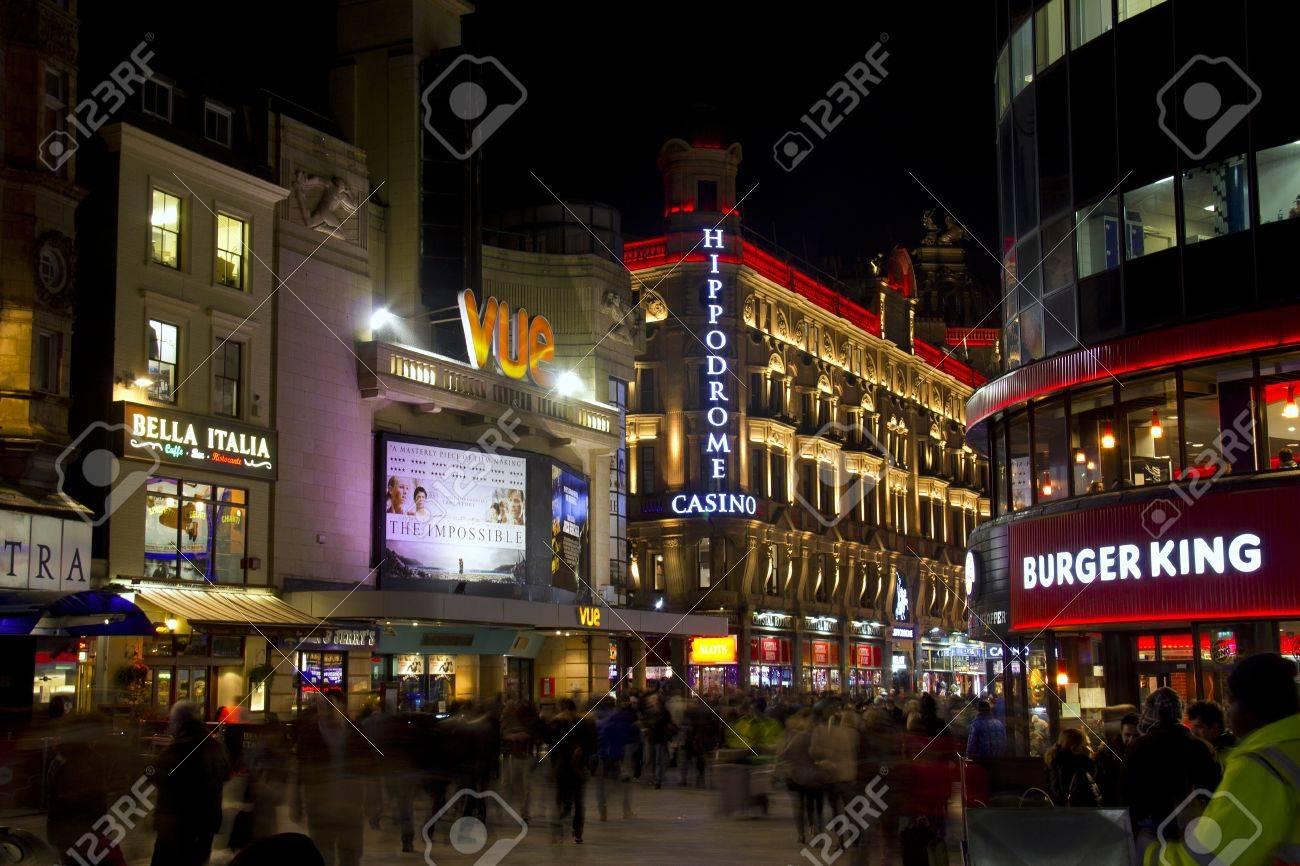 London, UK - January 1, 2013: Movie theatre, casino and restaurants