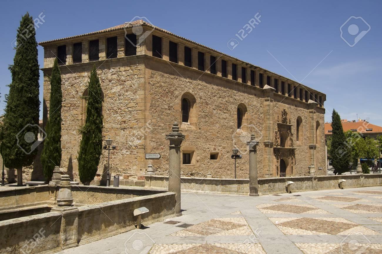 historical building of convento de las duenas in salamanca spain