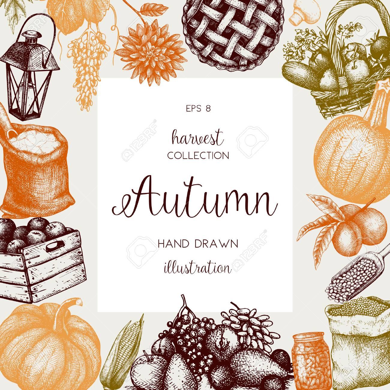 Vintage autumn template. - 76963739